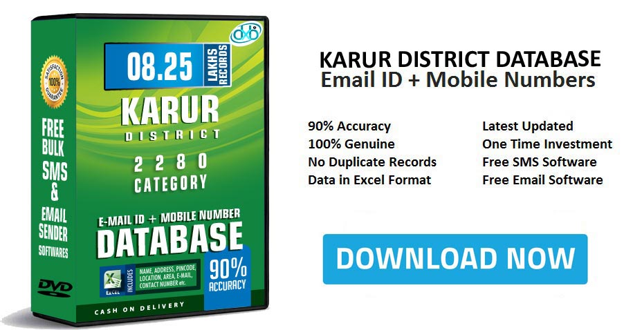 Karur District Email Database Free Download & Mobile Number directory