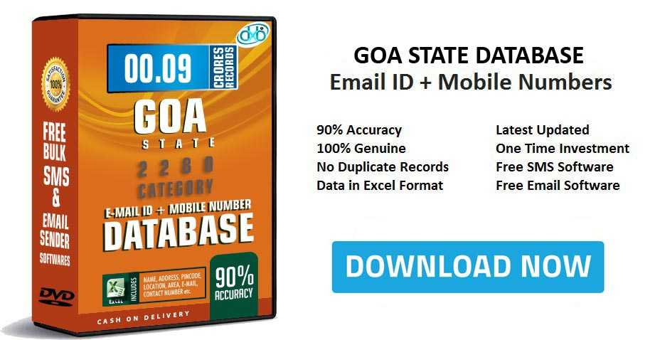 2019 Goa Mobile Number Database Free Download Email Directory List